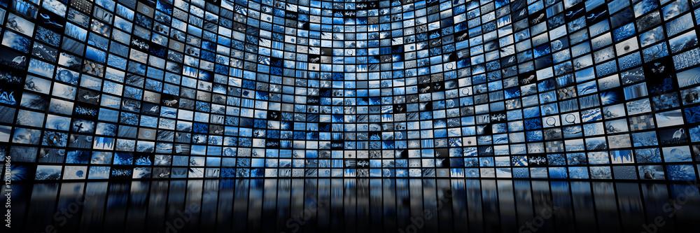 Fototapeta Giant multimedia video and image wall