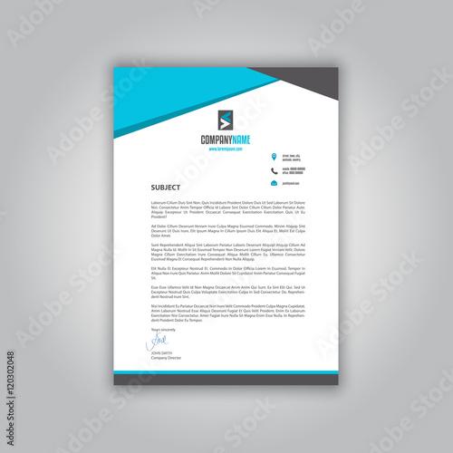 Fototapeta Business letterhead obraz