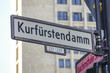 The famous Kurfuerstendamm Berlin - Kudamm area and shopping street