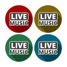 Live Music Sign Icon. Karaoke Symbol