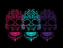 Skull Vector Background For Fa...