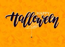 Happy Halloween Vector Letteri...