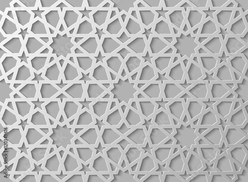 Seamless islamic pattern 3d   Traditional Arabic design element