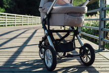 Baby Stroller On Running Path ...