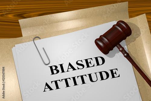 Biased Attitude - legal concept Canvas Print