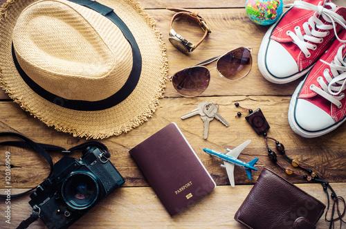 Plakat Akcesoria odzieżowe Odzież Odzież na podróż