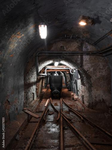 Mine wagon for the transportation inside the mines Fototapet