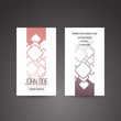 Business Card Template with Abstract Squares Background