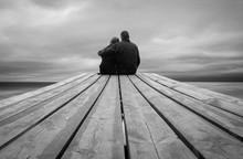 Couple Hugging On The Bridge To Eternity