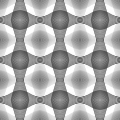 FototapetaDesign seamless monochrome waving pattern