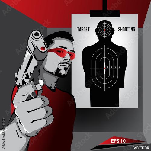 sporty-strzeleckie-meski-charakter-cwiczacy-strzelanie-do-celu