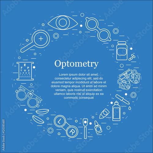Cuadros en Lienzo Vector optometry round concept