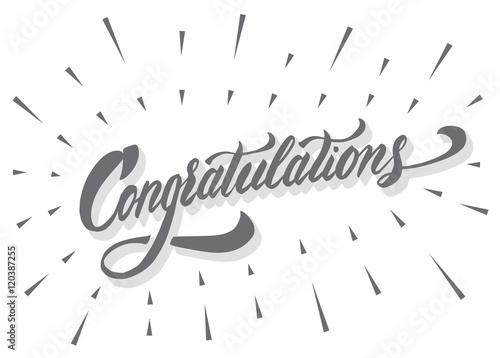 Fotografía  Congratulations calligraphic lettering