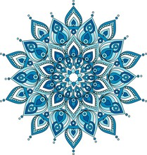 Vector Decorative Blue Mandala Illustration