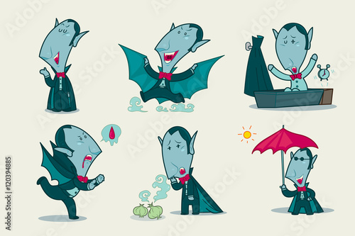 Fotografia Dracula vampire, Character design, Vector illustration.