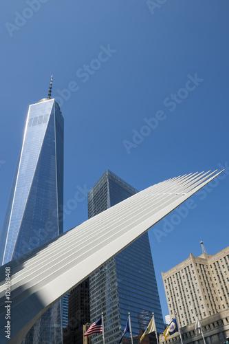 Photo  Modern architecture on the skyline in Downtown Manhattan, New York City