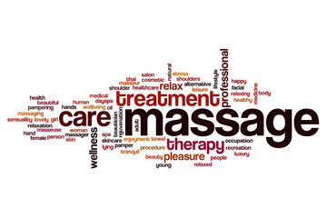 Massage word cloud