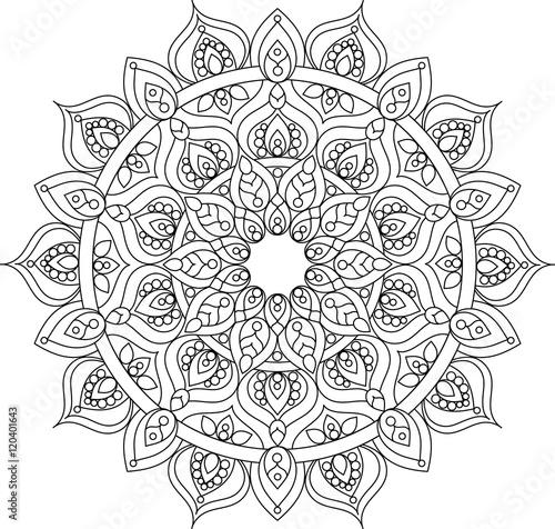 Photo  Vector outline ornate mandala illustration