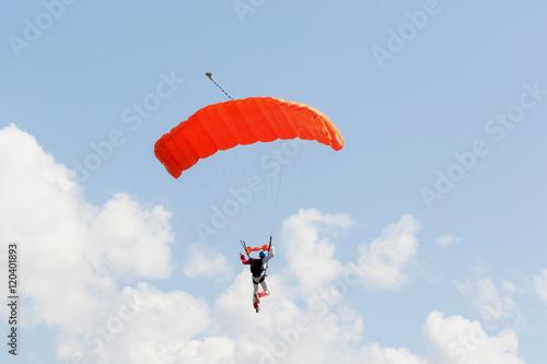 Fotografie, Obraz  Paracadutista in atterraggio