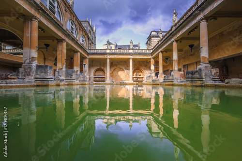 Stampa su Tela Roman Baths, the house is a well-preserved Roman site for public bathing