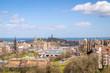 Edinburgh, Scotland, cityscape, with Waverly station, Princess Gardens