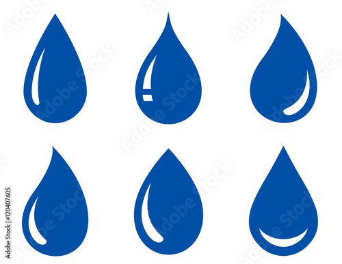 set of water drops Canvas