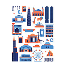 Blue And Red Vector Set Of Chi...