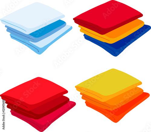 Fotografia Set colored towels