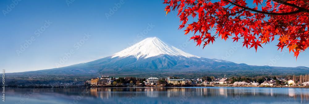 Halna Fuji panorama w jesieni