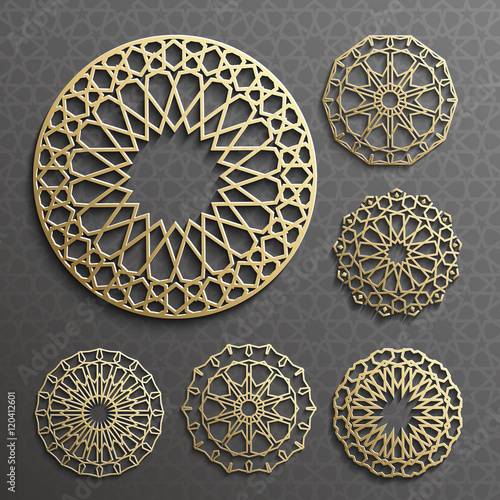 Fotografie, Obraz  Islamic ornament vector , persian motiff