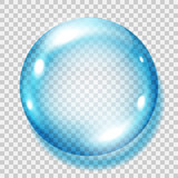 Transparent light blue sphere. Transparency only in vector file