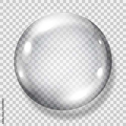 Fotografie, Obraz  Transparent gray sphere. Transparency only in vector file