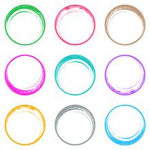 Colorful Brush Strokes Circle ...