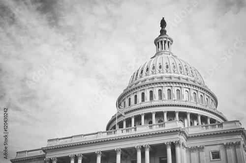 Fotografia, Obraz  Capitol Hill Building in Washington DC with Vintage Filter