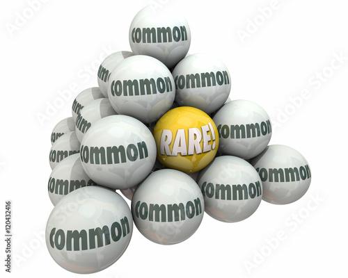 Fotografie, Obraz  Rare Vs Common Rarity Value Ball Pyramid 3d Illustration