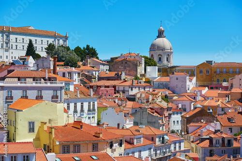 Vászonkép Aerial scenic view of central Lisbon