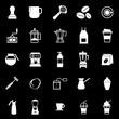 Barista icon on black background