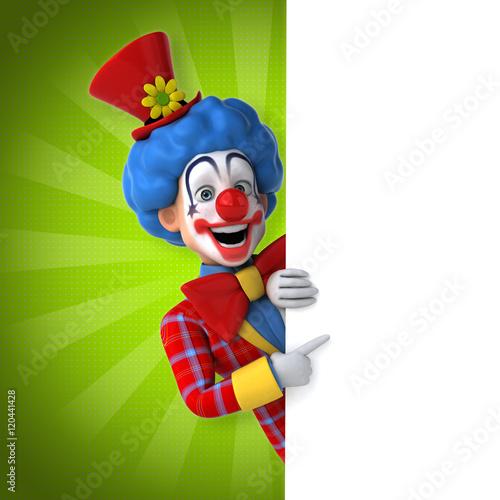 Tableau sur Toile Fun clown
