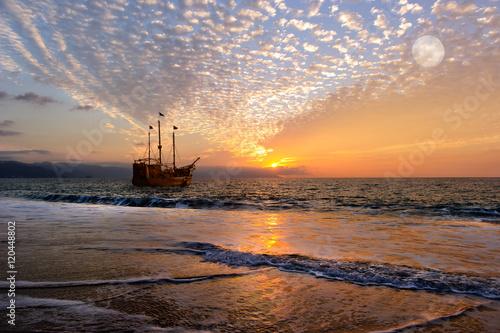 Keuken foto achterwand Schip Pirate Ship Fantasy