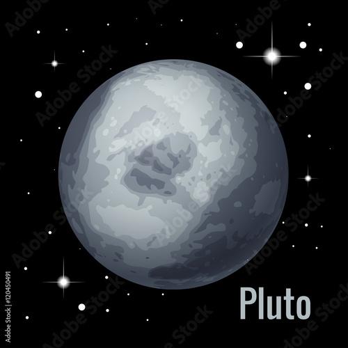 Photo  Pluto planet 3d vector illustration