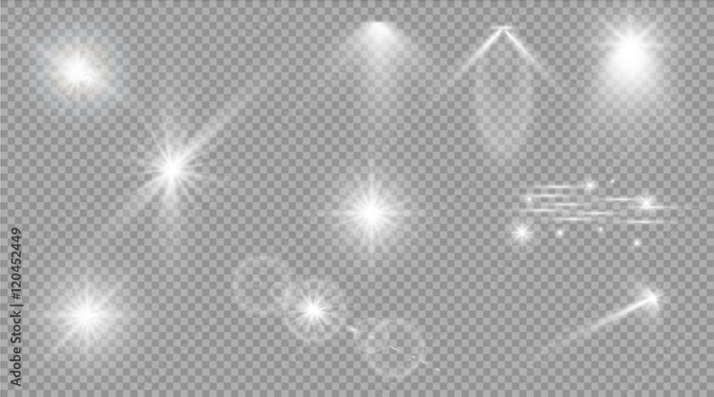 Fototapety, obrazy: Glow light effect. Star burst with sparkles. sunlight.