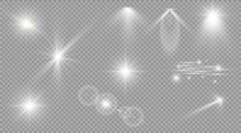 Glow Light Effect. Star Burst ...