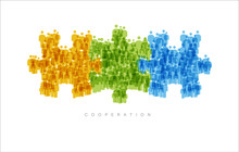 Cooperation Teamwork Concept Made From People Icons