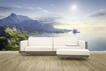 Photo Wall Mural Sofa Floor La...