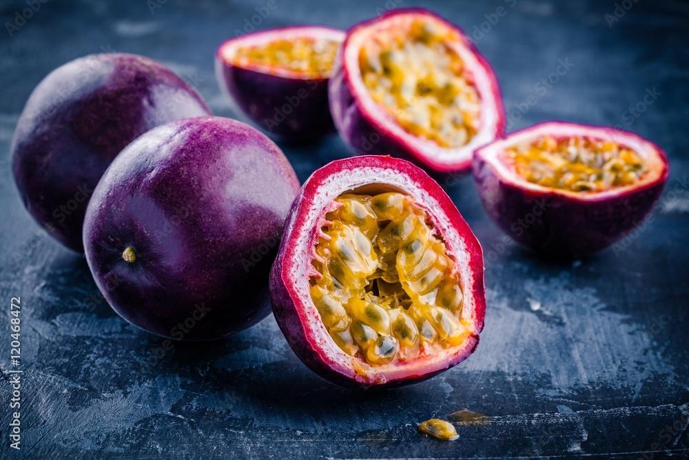 ripe organic passion fruit