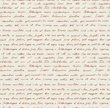 Hand Written Letter - Seamless Text Lorem Ipsum. Repeating Pattern