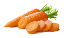 Fresh Carrot And Cut Pieces Is...