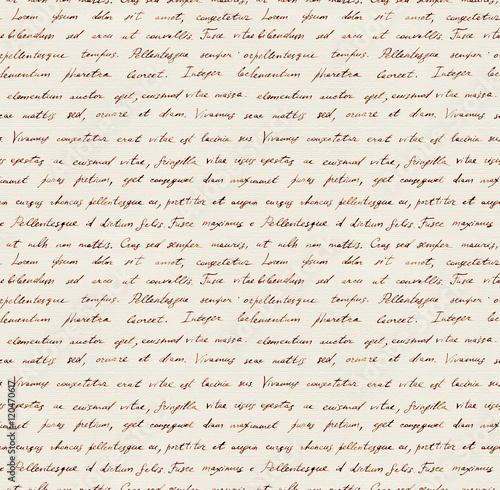 Fotografía  Hand written letter - seamless text Lorem ipsum