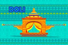 Indian Palki Palanquin Representing Colorful India