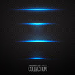 Glowing light effcets collection isolated on transparent Vector illustration .